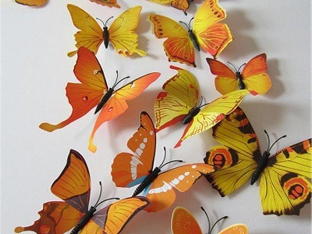 Mariposas amarillas imanes y stickers